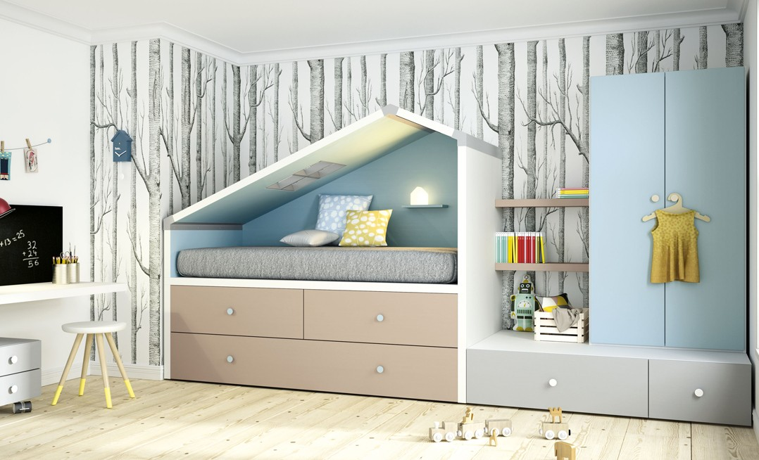 Cama compacta my space 26 de grabal mobel k6 for Cama compacta infantil